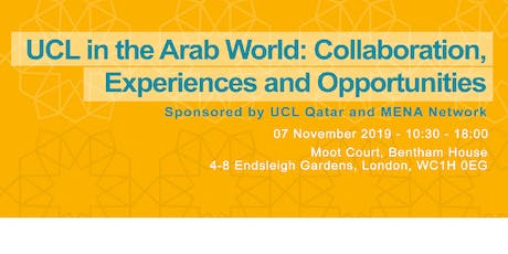 UCL in the Arab World: Collaboration, Experience and Opportunities tickets