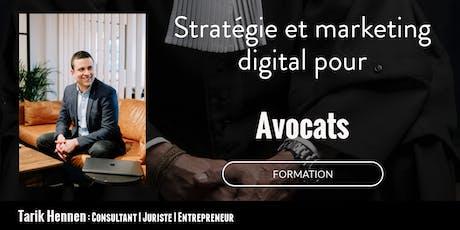 Stratégie et Marketing Digital pour Avocats tickets