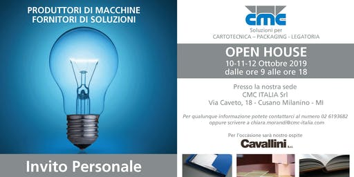 OPEN HOUSE CMC ITALIA 2019
