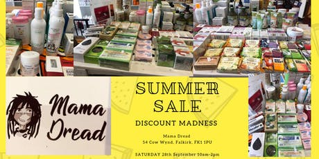 Summer Sale by MAMA DREAD  - Beauty and Health Products up to 50% off tickets