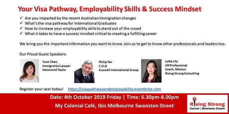 Your Visa Pathway, Employability Skills & Success Mindset tickets