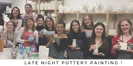 Late Night Pottery Painting tickets