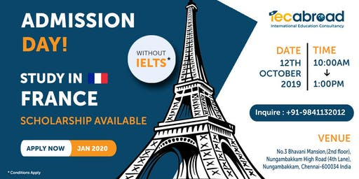 ADMISSION DAY - FRANCE UNIVERSITIES!