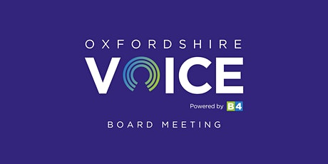 Oxfordshire Voice Board Meeting June 2020 tickets