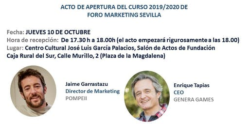 Apertura de curso 2019/2020 Foro Marketing Sevilla