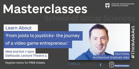Entrepreneurial Masterclass with Paul Farley tickets