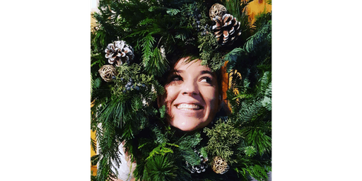 Christmas Wreath Making Workshop with Faded Poppy
