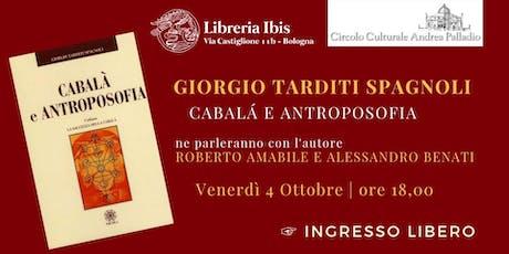 G.Tarditi Spagnoli Cabalà e Antroposofia tickets