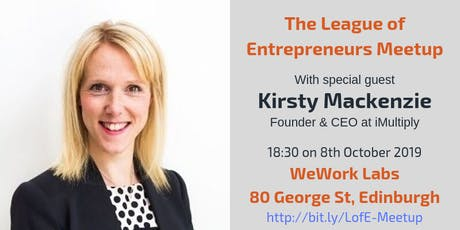 Find Co-Founders, Mentors and Investors with Kirsty Mackenzie CEO at iMultiply tickets