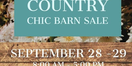 Country Chic Antiques Barn Sale