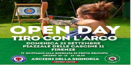 Open Day Arcieri della Signoria, prova gratuita di tiro con l'arco. biglietti