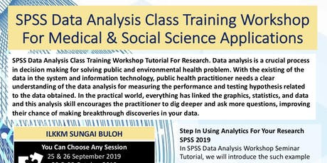 SPSS Data Analysis Workshop for Medical, Health & Social Application tickets