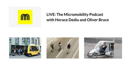 The Micromobility Podcast: Live Q&A with Horace Dediu and Oliver Bruce Tickets