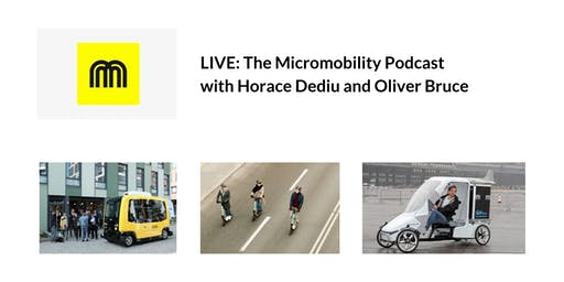 The Micromobility Podcast: Live Q&A with Horace Dediu and Oliver Bruce