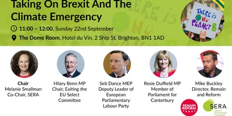 Taking on Brexit and the climate emergency tickets