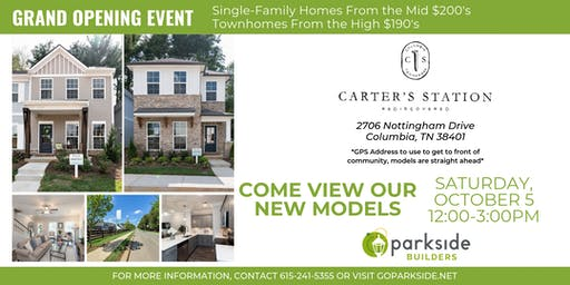 The Village at Carter's Station- GRAND OPENING