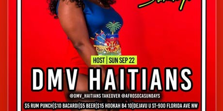 DMV Haitians Host @AfroSocaSundays|SUYA|FREE ENTRY|$5 RumPunch|$15 Hookah|$10 Drinks tickets