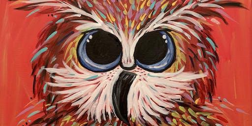 """Owl"" wait for Fall Paint Class"