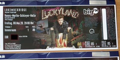 2 Tickets 1.REIHE Luke Mockridge: Welcome to Luckyland in Stuttgart 8.5.20