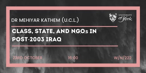 Class, State, and NGOs in post-2003 Iraq