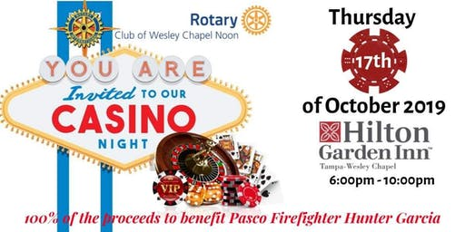 Wesley Chapel Rotary Casino Night for Firefighter Hunter Garcia