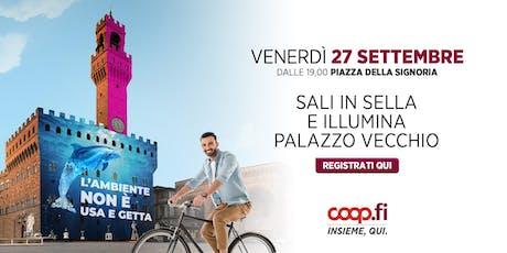 Sali in sella e illumina Palazzo Vecchio biglietti