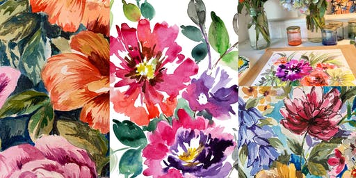 Floral Watercolour Inks Painting Class with Davinder Madaher