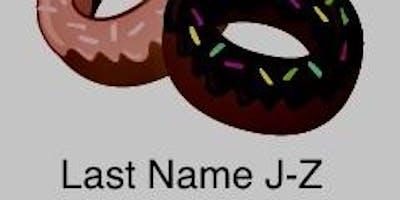 Donut with Dad Last Name J-Z