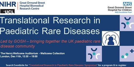 Translational Research in Paediatric Rare Diseases Symposium tickets