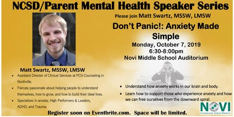 Don't Panic!: Anxiety Made Simple tickets
