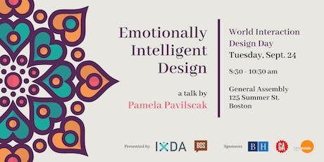 IxDA Boston & Creative Mornings Boston  | Emotionally Intelligent Design tickets