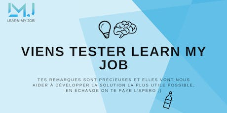 Viens tester le prototype qui va changer ton job, on te paye l'apéro ;) tickets