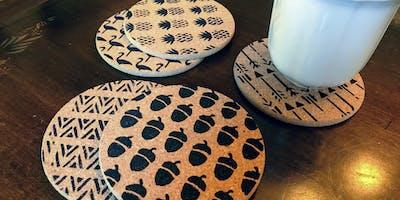 Arts & Craft Brew @ WOB - DIY Coasters