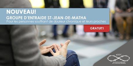 AQDC : Groupe d'entraide St-Jean-de-Matha - 15 octobre 2019 billets