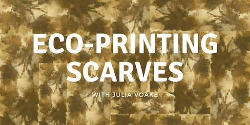 Adult/Teen Class: Eco-Printing Scarves 11/19