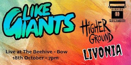 Like Giants/Higher Ground/Livonia tickets