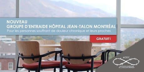AQDC : Groupe d'entraide Hôpital Jean-Talon - 19 octobre 2019 billets