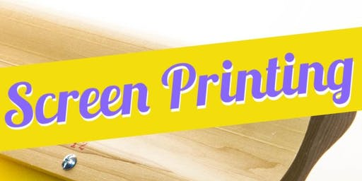 Registration Introduction to Screen printing Monday evenings. 3 Week Course