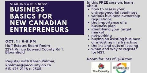 Business Basics for New Canadian Entrepreneurs