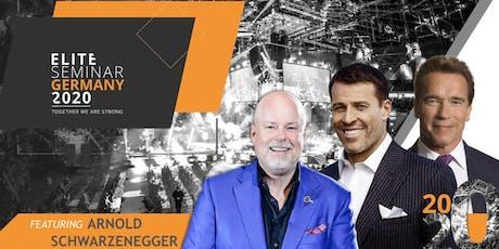 Elite Seminar Germany feat. Tony Robbins, Arnold Schwarzenegger &Eric Worre biglietti