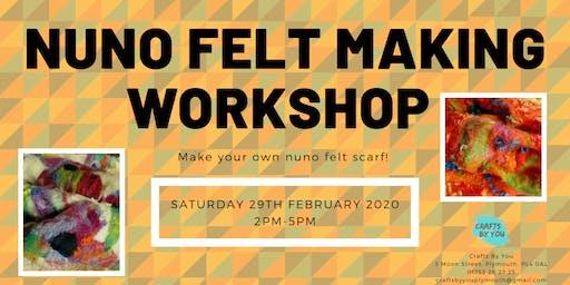 Nuno Felt Making Workshop - Make your own felt scarf!