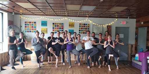 Find Your Balance at Counterweight Brewing (yoga then beer!) on November 3rd