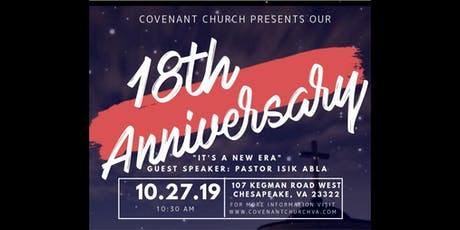 18th Anniversary Celebration tickets