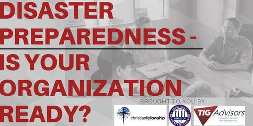 Community Organization Disaster Preparedness Series
