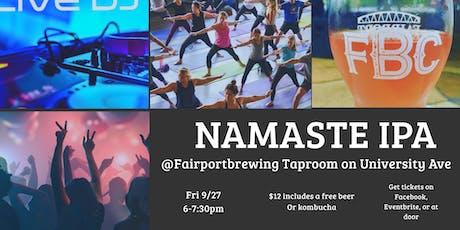 Namaste IPA: Happy Hour Yoga, Dance DJ & Free Beer tickets