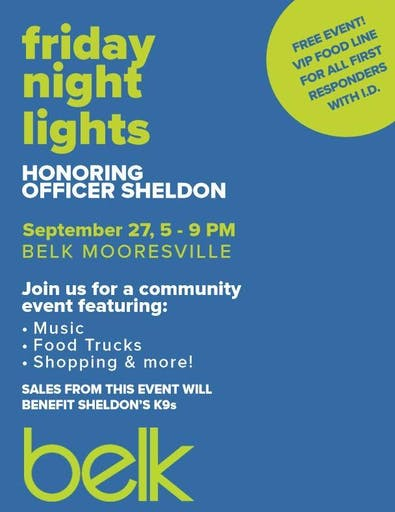 Friday Night Lights Honoring Officer Sheldon