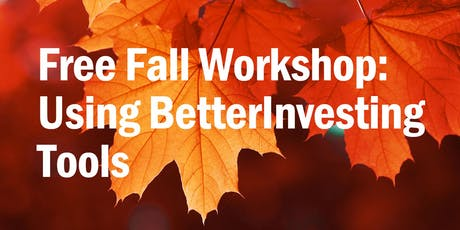 Workshop Using BetterInvesting Tools tickets