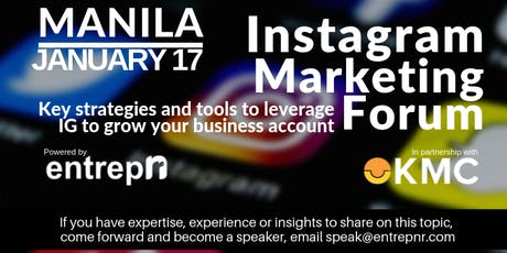 Instagram Marketing (Manila) tickets