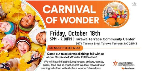Carnival of Wonder Fall Festival (Camp Lejeune & New River) tickets