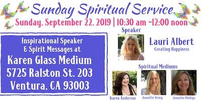 Sunday Spritual Service